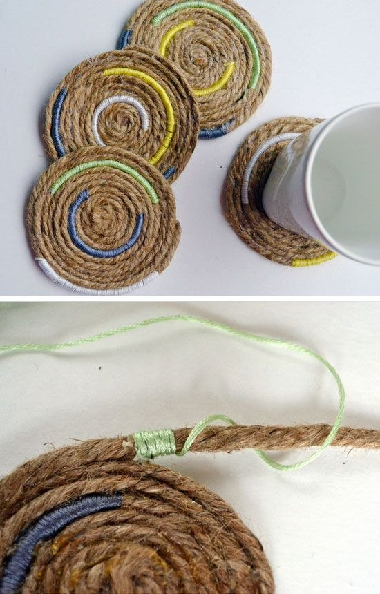 Nautical Inspired Twine Coaters