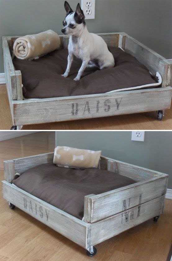 Wooden and Rustic Dog Seat