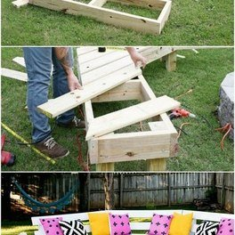 DIY Circle Bench Around A Fire Pit