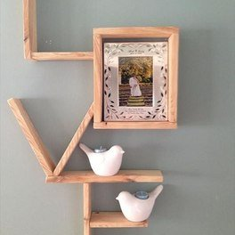 Letter shaped shelf