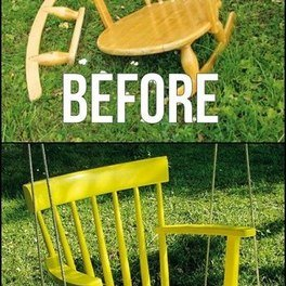 Repurpose old broken chair