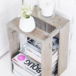 Wooden crate magazine holder