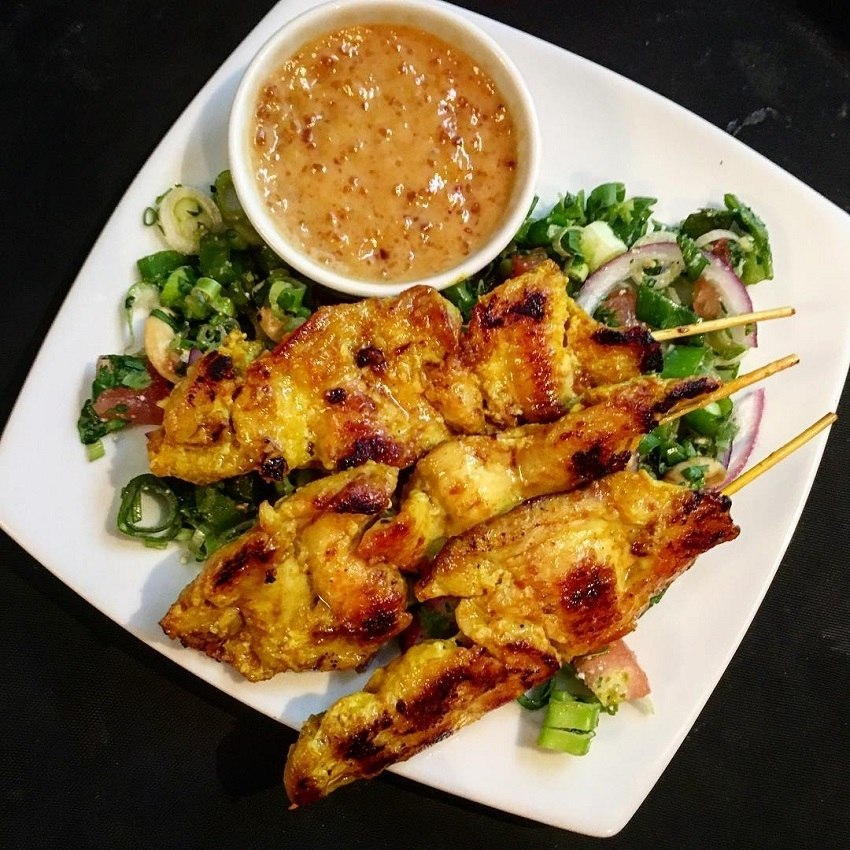 Chicken Skewers with spices