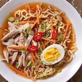 Hot and spicy chicken ramen