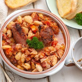 Classic French Chicken and Sausage Cassoulet